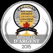 Médaille d'argent - Les grands-prix canadiens de la bière